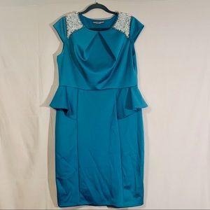 Dorothy Perkins Teal Peplum Dress